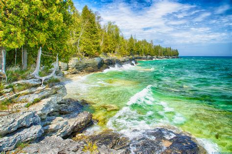 Cave Point - Door County   The rugged shoreline south of