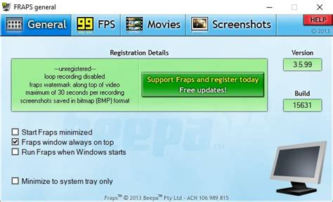 Download FRAPS for Windows 10 - Full & Trial Versions