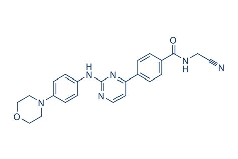 Chemical Structure of Momelotinib (CYT387), CAS No