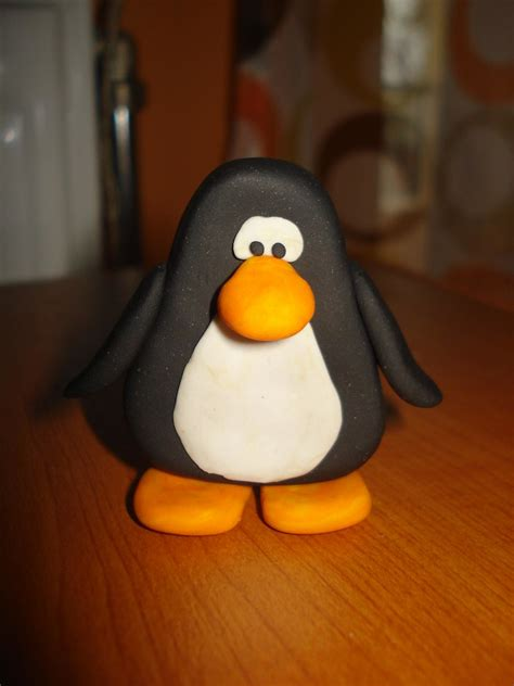 fimo club penguin (polymer clay) | I made this club