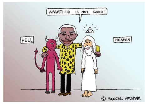 Nelson Mandela By Pascal Kirchmair   Famous People Cartoon