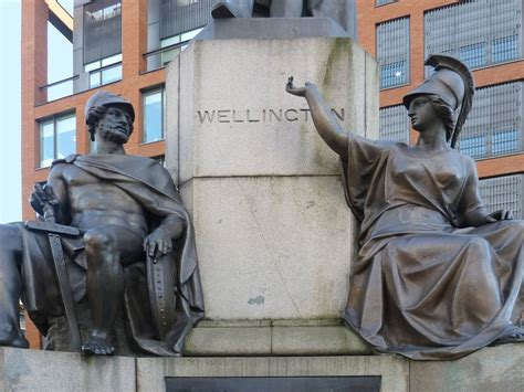 The Wellington Monument, Piccadilly, Manchester, by