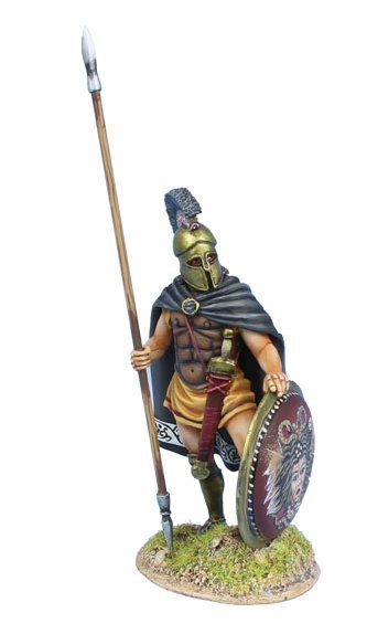 Greek Hoplite Standing with Cloak and Dory AG064 First